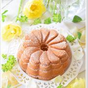 フラワーバターケーキ☆ベーキングテスト