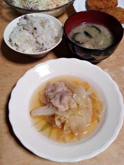 豚とキャベツのあっさり煮