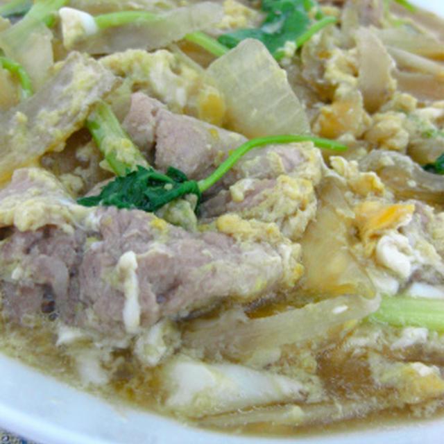 豚肉とごぼうの柳川煮