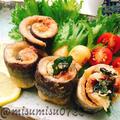 秋刀魚の梅しそロールにんにく揚げ by Misuzuさん