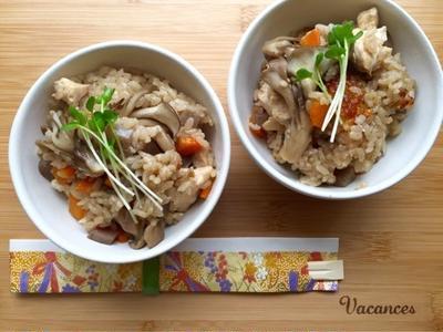 【簡単】【秋の味覚】鶏肉ときのこの炊き込みごはん