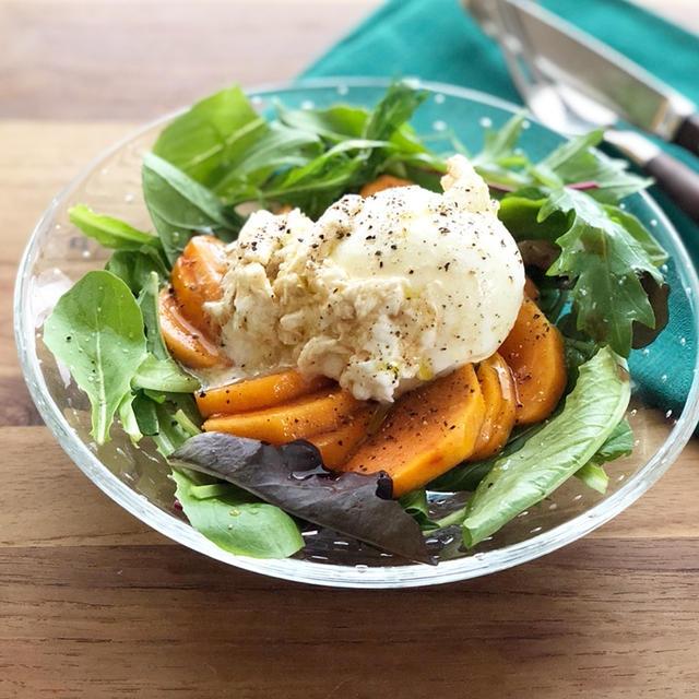 とろける食感がたまらない「ブッラータと柿のサラダ」 #ラジオで紹介 #カルディ食材
