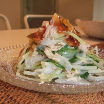 水菜とツナのさっぱりサラダ