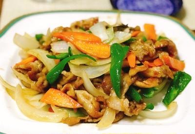豚肉と彩り野菜のオイスターソース炒め