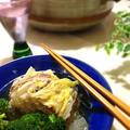 白菜と豚の重ね煮 セージ風味。「ハウス×レシピブログ」のコラボイベントに参加中!
