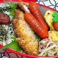 【お弁当】お弁当作り/bento/ガーリック豚カツ《アラフィフ旦那弁当》