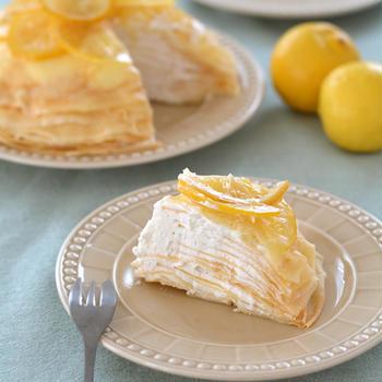 レモンミルクレープ。【さっぱり爽やかなレモンクリーム】