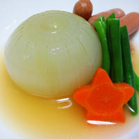 玉ねぎとソーセージのスープ煮【玉ねぎ♪丸ごと】