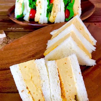 夫の要望で作った、和風出汁の厚焼き玉子のサンドイッチ我が家のレシピ保存版