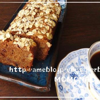 キャロットケーキ❤小麦粉・バター・卵・白砂糖を使わないヘルシー米粉パウンド