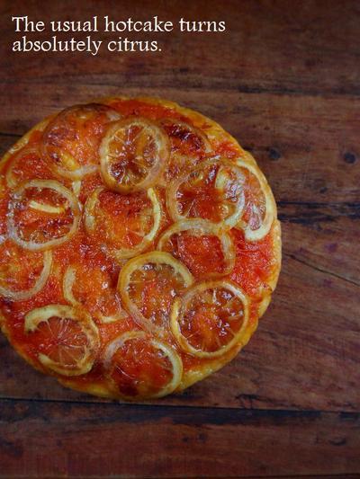 レモンとグレープフルーツでシトラスホットケーキ
