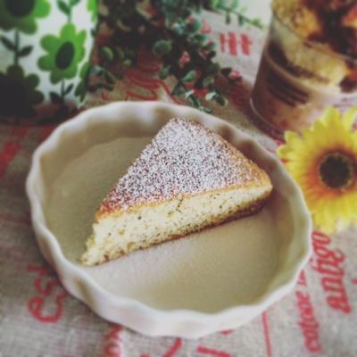 簡単☆ホットケーキミックスで♪緑茶プードルケーキ