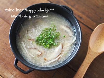 自然なトロミで体ポカポカ♪すりレンコンとキノコの中華風スープ