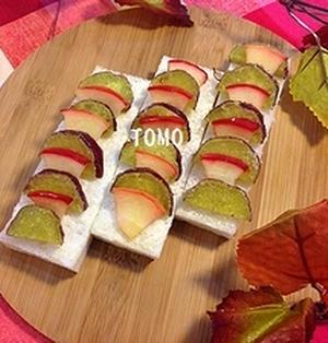 小岩井乳業 ぬるチーズ de りんごとさつま芋のスティックオープンサンド