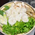 大和芋鍋【ぐんまクッキングアンバサダー】大和芋のすりおろしがもっちりなおお団子にになった体に優しいお鍋。