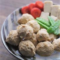 ■海老入り鶏団子と高野豆腐の煮もの♪