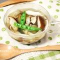 干し椎茸で健康パワーアップ↑たっぷりキノコの酸辣湯(サンラータン)