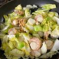 春キャベツとホタテ稚貝の蒸しもの