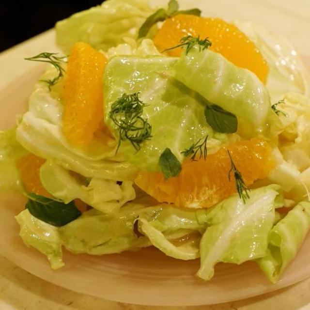春キャベツと柑橘のサラダ 塩麴ドレッシング
