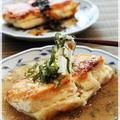 チーズがとろ~り♪ 明太餡かけ豆腐&豆腐のチヂミ