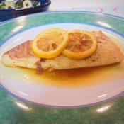 鯛のガーリックレモンソテー