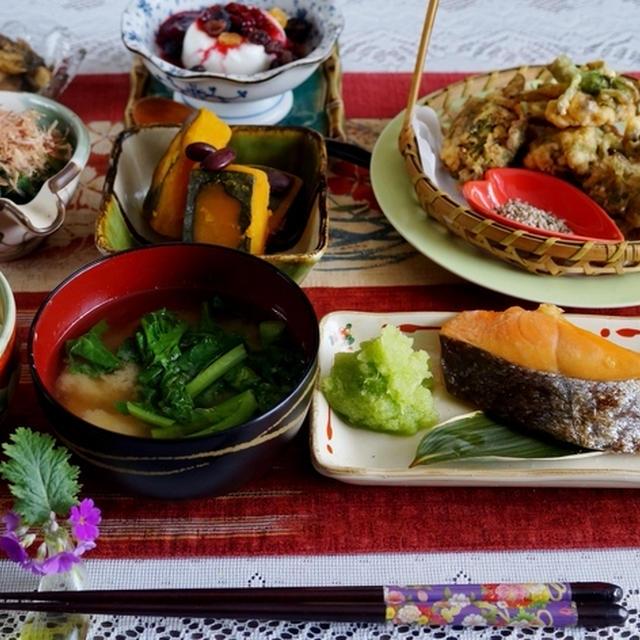 【一人朝ご飯で 簡単な和定食】です♪