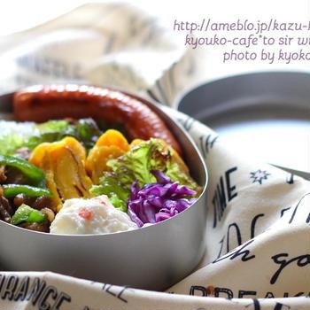 カフェ弁当☆牛肉とピーマンのお弁当・血管肉腫
