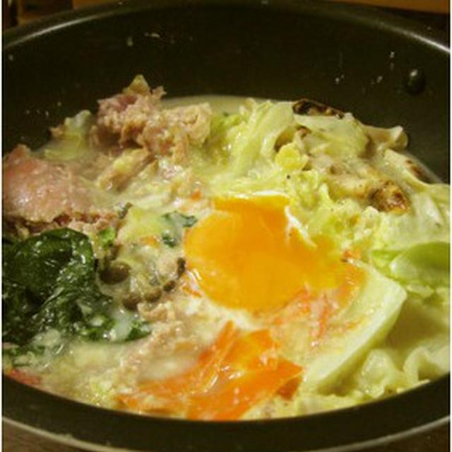 「豆乳塩麹鍋&カルボナーラ鍋」おまけ「足の形」