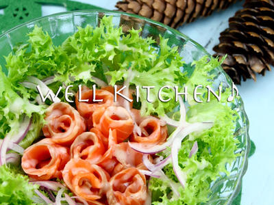 >真っ赤なスモークサーモンサラダは いつもみんなの人気者! by ウエルキッチンさん