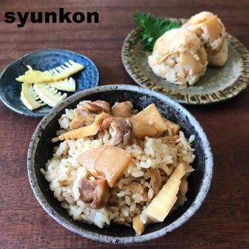 【ギリギリ旬の味!】フライパンで!調味料2つ!たけのこと鶏肉のご飯