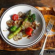 【簡単!!カフェごはん】白身魚と野菜の粒マスタードしょうゆ