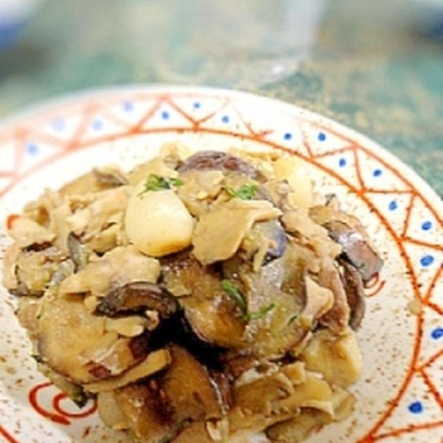 簡単☆ナスと舞茸の花椒風味の味噌炒め