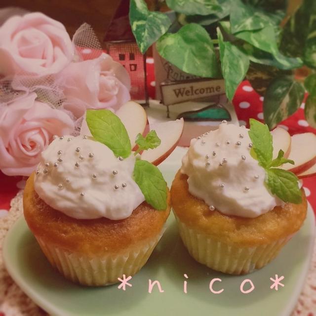 *でこちゃん おめでとう~♡りんごバターのお豆腐マフィン*