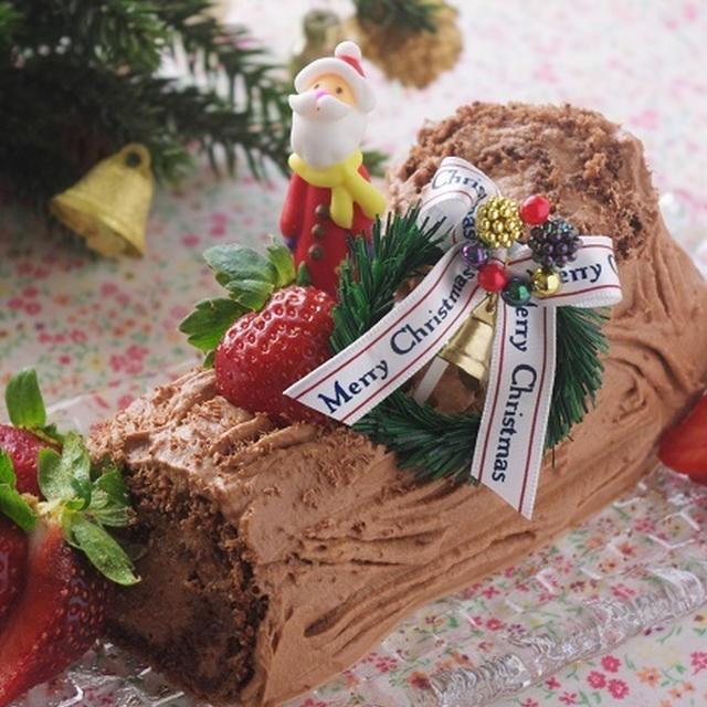 クリスマスのブッシュドノエル、とケーキ教室