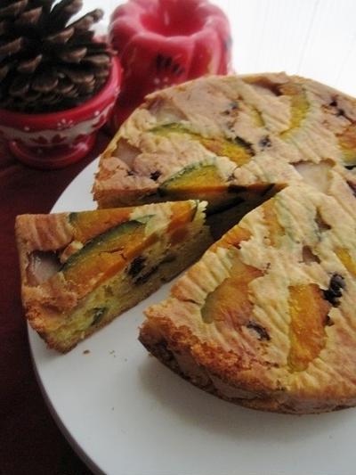 ちょっぴりスパイスな南瓜の焼きケーキ