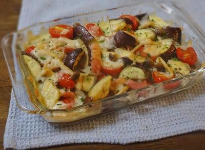 茄子とトマトのチーズ焼き