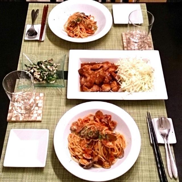 ボンゴレロッソ と こだわり食感 焼き肉のたれ
