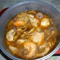 シャンタンDXでピリ辛豪華海鮮鍋
