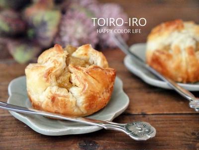 栗ジャムで作る簡単マロンパイ、さんまの蒲焼き、今日のレシピ
