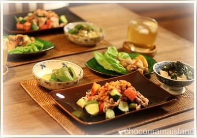 夏野菜冷しゃぶの食べラードレッシング