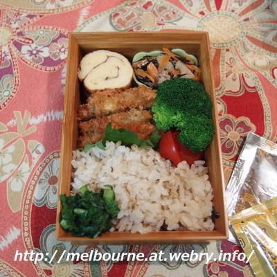 週末仕事-作り置き常備菜- ★ お弁当は 秋刀魚ごはんと牡蠣フライ