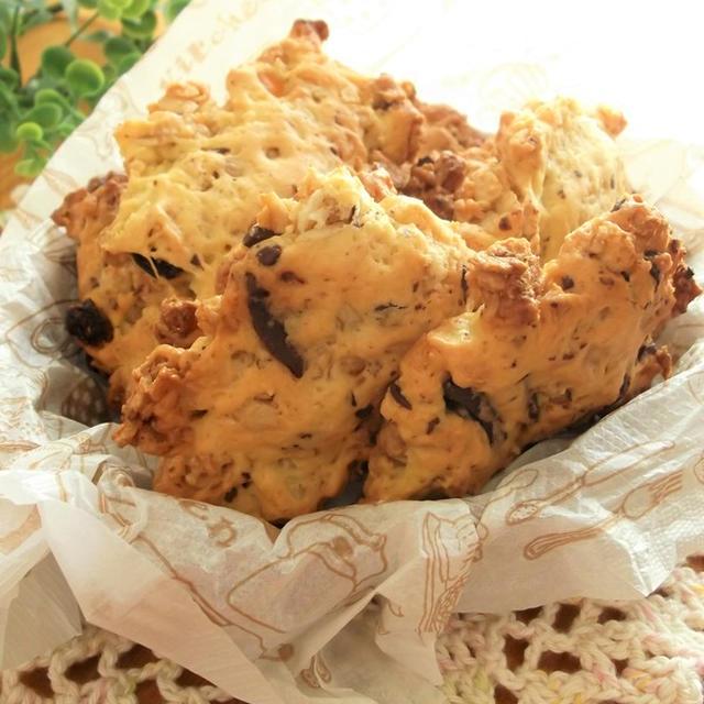 フルーツグラノーラとチョコのドロップクッキー