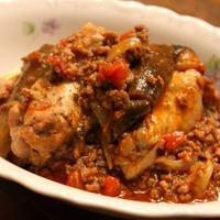 鶏手羽とナスのトマト煮