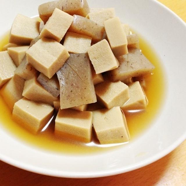 蒟蒻と高野豆腐の煮物