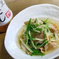 白だしを使って手早く調理♪豚肉と水菜のさっと煮
