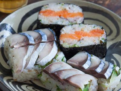 >〆鯖のおにぎり寿司 by ゆりりさん