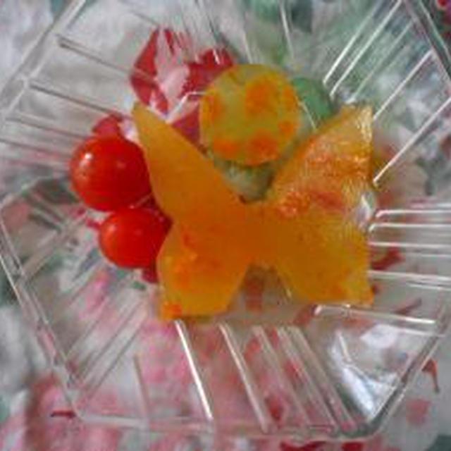 ★ミニトマトオレンジアガーゼリー★