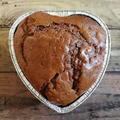 【簡単!HM使用】材料4つ!混ぜたら焼くだけ!100均のハートの型で豆腐入りチョコケーキ