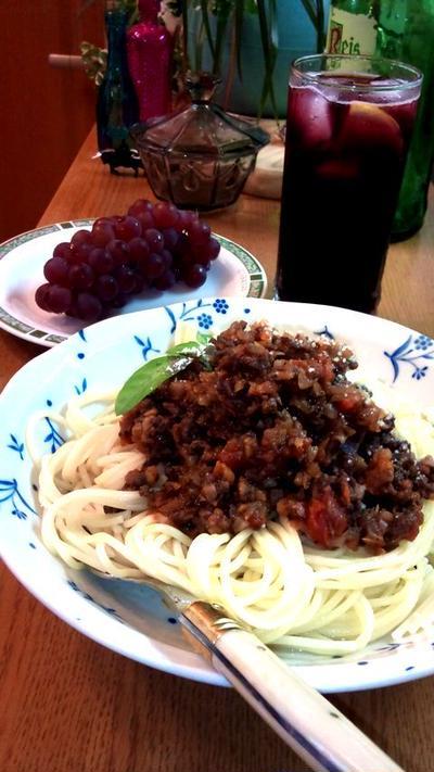 スパゲッティ ボロネーゼ ~ Spaghetti Bolognese sauce