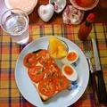 トマト&バジルのチーズオープンサンドイッチ ~ 熱々にトーストして♬ by mayumiたんさん